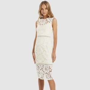 Cooper St Hinterland High Neck Lace Midi Dress